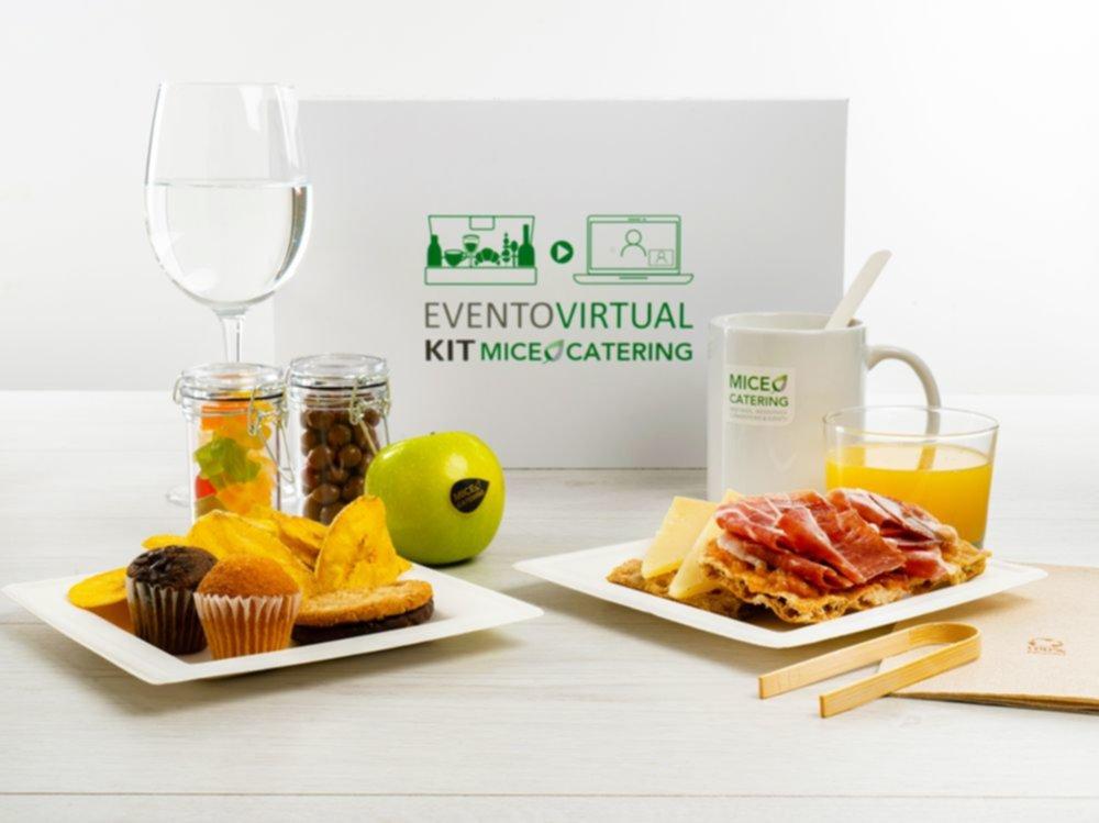 celebrar eventos virtuales con catering